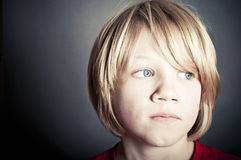 Upset little boy Royalty Free Stock Photo