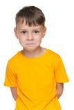 Upset little boy Stock Image