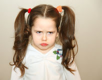 Upset little girl Royalty Free Stock Photo