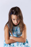 Upset little girl Stock Images