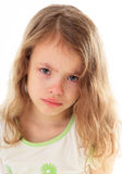 Upset little girl Royalty Free Stock Images