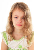 Upset little girl. Stock Photography
