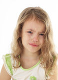 Upset little girl crying. Stock Image