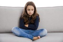 Upset little girl Stock Images