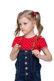 Upset little girl Stock Photos