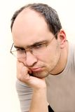 Upset man portrait Stock Image