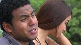 Upset Man Speaking Angrily stock video footage