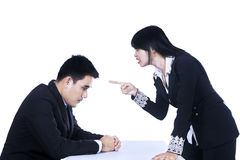 Upset Manager Stock Images