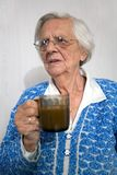 Upset old woman. Royalty Free Stock Image