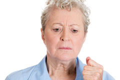 Upset old woman Royalty Free Stock Photo