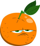 Upset orange Stock Photography