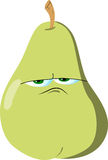 Upset pear Stock Photography
