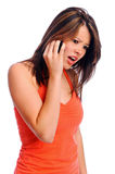 Upset phone call Stock Photography
