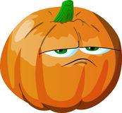 Upset pumpkin Royalty Free Stock Image