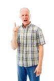 Upset senior man scolding somebody Royalty Free Stock Photography