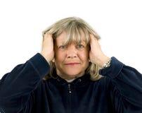Upset Senior Woman Stock Images