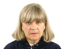 Upset Senior Woman Stock Photo