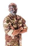 Upset soldier Stock Image