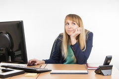 Upset a specialist office at the workplace Stock Image