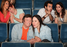 Upset Spectators Royalty Free Stock Photo