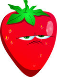 Upset strawberry Royalty Free Stock Image