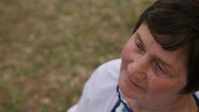 Upset stressed old mature woman, sad depressed aged senior lady grandma, sorrow
