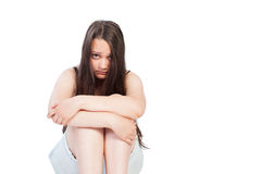 Upset teen girl with sad face Royalty Free Stock Photo