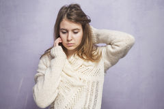 Upset teen girl Royalty Free Stock Photo