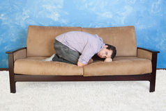 Upset Teen On Sofa Royalty Free Stock Photography