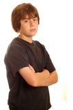 Upset teenage boy Stock Images