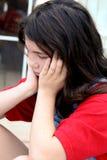 Upset teenager della ragazza Immagini Stock