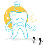 Upset teeth with germs Stock Photography