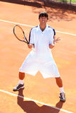 Upset tennis player Royalty Free Stock Photography