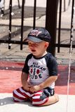 Upset Toddler at the pool Royalty Free Stock Photography
