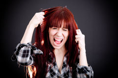 Upset White Women Royalty Free Stock Images