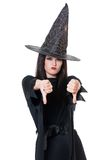 Upset witch Stock Image