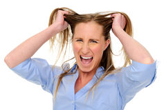 Upset woman Stock Images