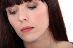 Upset woman crying Royalty Free Stock Images