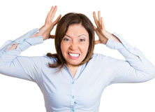 Upset woman going crazy Stock Photography