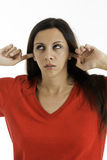 Upset Woman - Not  listening Stock Image