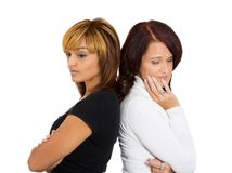 Upset women back to back Royalty Free Stock Photos