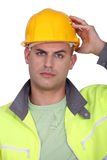 Upset worker Royalty Free Stock Photos