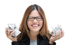 Upset working woman Stock Photography