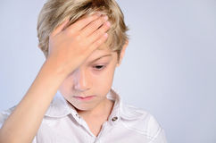 Upset young boy Stock Photography