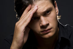 Upset young man Stock Image