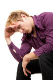 Upset young man Royalty Free Stock Photos