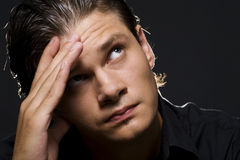 Upset young man Royalty Free Stock Image