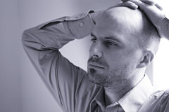 Upset young man Royalty Free Stock Photography