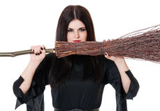 Upset young witch Royalty Free Stock Photos