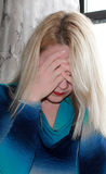 Upset young woman. Stock Photo